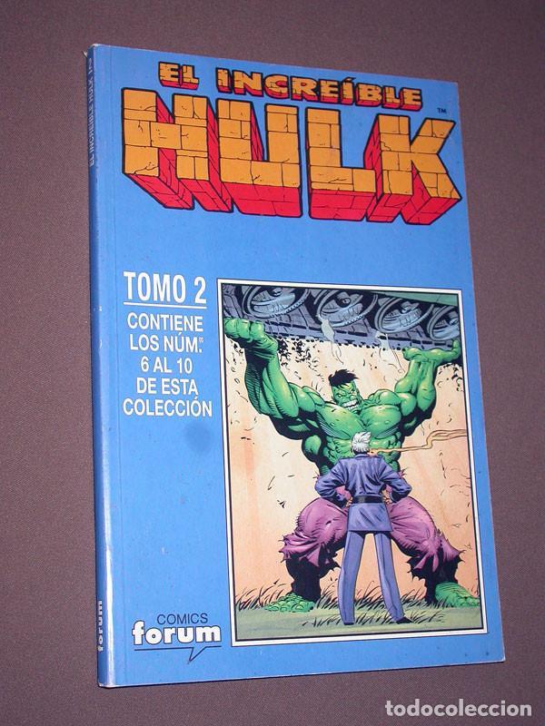 EL INCREIBLE HULK RETAPADO 2 CON LOS Nº 6, 7, 8, 9 Y 10. DAVID, KUBERT, FARMER. FORUM, 1999 (Tebeos y Comics - Forum - Hulk)