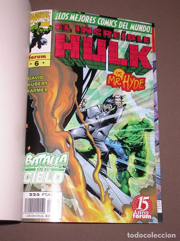 Cómics: EL INCREIBLE HULK RETAPADO 2 CON LOS Nº 6, 7, 8, 9 Y 10. DAVID, KUBERT, FARMER. FORUM, 1999 - Foto 2 - 216700697