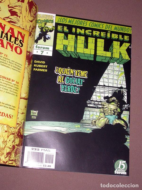 Cómics: EL INCREIBLE HULK RETAPADO 2 CON LOS Nº 6, 7, 8, 9 Y 10. DAVID, KUBERT, FARMER. FORUM, 1999 - Foto 4 - 216700697