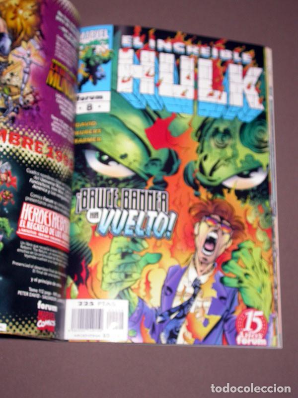 Cómics: EL INCREIBLE HULK RETAPADO 2 CON LOS Nº 6, 7, 8, 9 Y 10. DAVID, KUBERT, FARMER. FORUM, 1999 - Foto 6 - 216700697