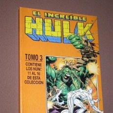 Cómics: EL INCREIBLE HULK RETAPADO 3 CON LOS Nº 11, 12, 13, 14, 15 Y 16. DAVID, KUBERT, FARMER. FORUM, 1999. Lote 216701301