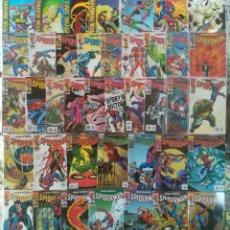 Cómics: JOHN ROMITA SPIDERMAN DEL 1 AL 61 MAS EL 63 Y 64 MAS 4 ESPECIALES BUEN ESTADO. Lote 217579576