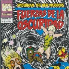 Cómics: FUERZAS DE LA OSCURIDAD. SERIE LIMITADA 1 DE 4 SPIDERMAN-NEW WARRIORS FORUM. Lote 217651765