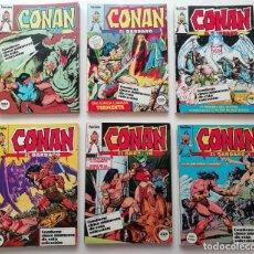 Cómics: CONAN, 6 RETAPADOS FORUM CON TODA LA ETAPA BARRY SMITH Y LOS PRIMEROS BUSCEMA (DEL 1 AL 49 SERIE. Lote 217716341