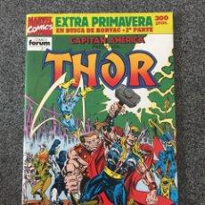Comics : CAPITÁN AMERICA PRESENTA THOR - EXTRA PRIMAVERA - EN BUSCA DE KORVAC 2ª PARTE - FORUM - 1992. Lote 218078082