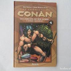 Cómics: LAS CRÓNICAS DE CONAN 4-LA CANCION DE RED SONJA Y OTRAS HISTORIAS. Lote 218095698
