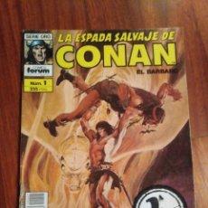 Cómics: LA ESPADA SALVAJE DE CONAN NÚMERO 1. COMICS FORUM. SEGUNDA EDICIÓN. MUY BUEN ESTADO. Lote 218252518