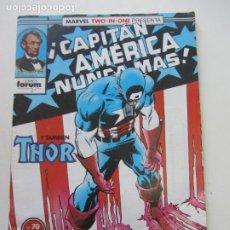Cómics: CAPITAN AMERICA Nº 70 FORUM MARVEL TWO-IN-ONE MUCHOS MAS ALA VENTA C24. Lote 218310907