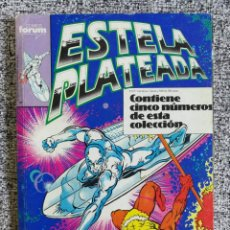 Cómics: RETAPADO ESTELA PLATEADA VOL. 1 N° 11 AL 15 - TOMO CON LOS NÚMEROS 11, 12, 13, 14, 15 - FORUM. Lote 218592832