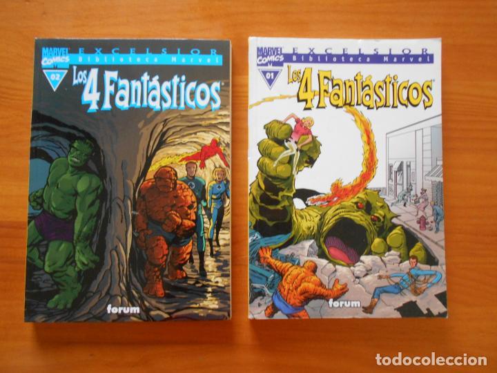 LOS 4 FANTASTICOS Nº 01 Y 02 - Nº 1 Y 2 - BIBLIOTECA MARVEL EXCELSIOR - FORUM (W) (Tebeos y Comics - Forum - 4 Fantásticos)