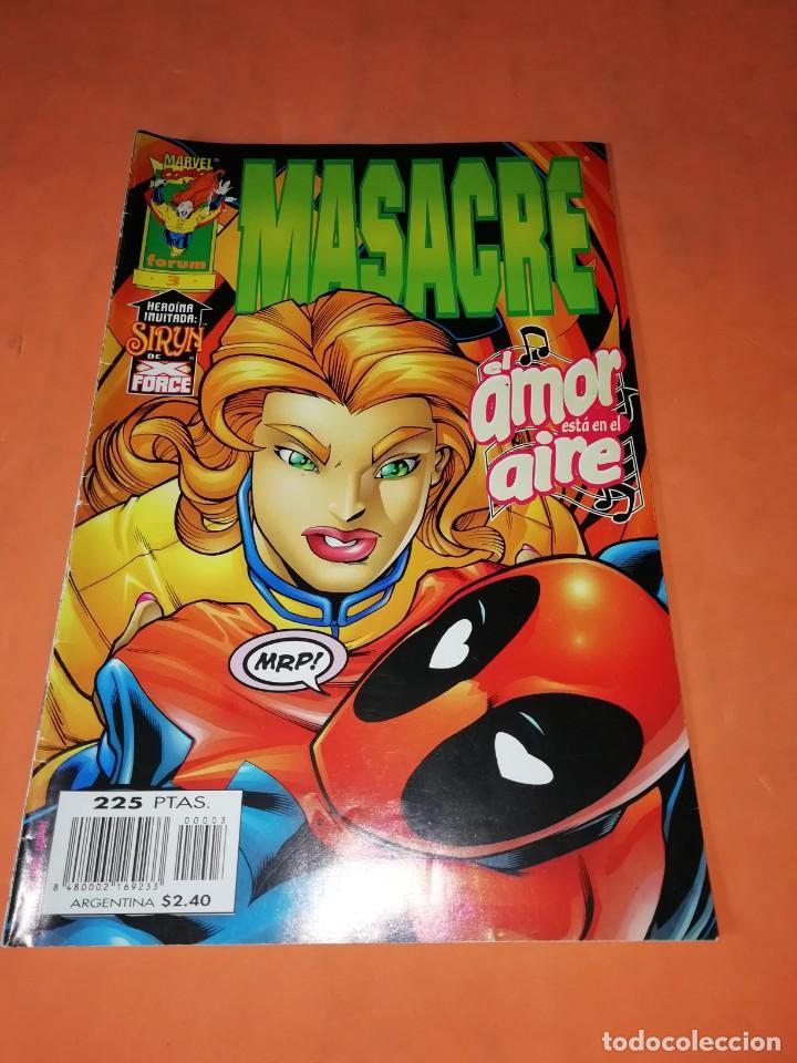 MASACRE. Nº 3. EL AMOR ESTA EN EL AIRE. FORUM GRAPA. (Tebeos y Comics - Forum - X-Men)