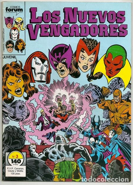 LOS NUEVOS VENGADORES, 3 – FORUM, 04/1987   + EPISODIO DE LOS NUEVOS DEFENSORES (Tebeos y Comics - Forum - Vengadores)