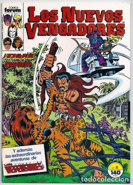 LOS NUEVOS VENGADORES, 4 – FORUM, 04/1987   + EPISODIO DE LOS NUEVOS DEFENSORES (Tebeos y Comics - Forum - Vengadores)