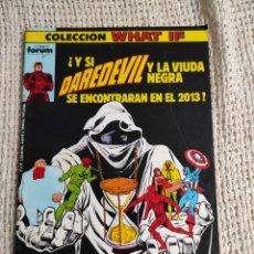 Cómics: WHAT IF VOL I - FORUM - Nº 2 ¿ Y SI DAREDEVIL Y LA VIUDA NEGRA HUBIERA....... Lote 219000436
