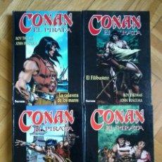Cómics: CONAN EL PIRATA COMPLETA - 4 TOMOS TAPA DURA - D1. Lote 219037473
