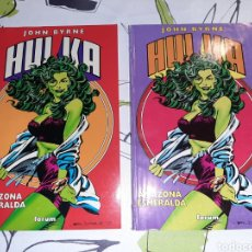 Cómics: HULKA AMAZONA ESMERALDA DE JOHN BYRNE COMPLETA 2 VOLUMENES. Lote 219228898