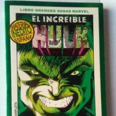 Cómics: LIBRO GRANDES SAGAS MARVEL-EL INCREIBLE HULK-DENTRO DEL PANTEÓN. Lote 220996317