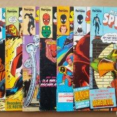 Cómics: LOTE SPIDERMAN: 36 NÚMEROS ENTRE EL 50 Y EL 189 -VER DESCRIPCIÓN- (COMICS FORUM 1984-1989).. Lote 217344943