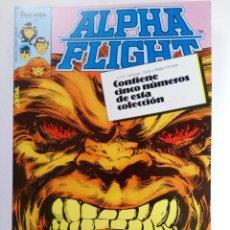 Cómics: ALPHA FLIGHT - RETAPADO, CONTIENE CINCO NUMEROS DEL 6 AL 10 - FORUM (SIN USAR). Lote 221288578
