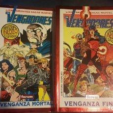 Cómics: GRANDES SAGAS: VENGADORES - VENGANZA MORTAL Y FINAL (2 TOMOS) - FORUM. Lote 221293007