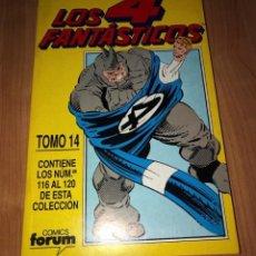 Cómics: LOS 4 FANTÁSTICOS TOMO 14 NÚMEROS Nº116-120 - COMICS FORUM. Lote 221339267