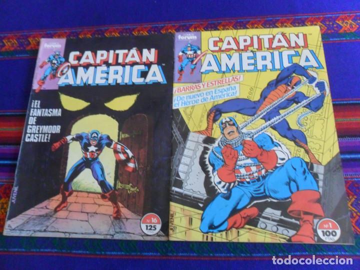 FORUM VOL. 1 CAPITÁN AMÉRICA Nº 1. 1985. 100 PTS. REGALO Nº 16. BUEN ESTADO Y DIFÍCIL. (Tebeos y Comics - Forum - Capitán América)
