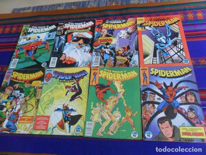 FORUM VOL. 1 SPIDERMAN NºS 3 42 70 91 158 162 CON LOBEZNO WOLVERINE 164 165. 1983. 85 PTS. BE. (Tebeos y Comics - Forum - Spiderman)