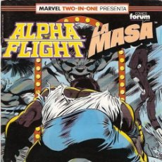 Cómics: ALPHA FLIGHT & LA MASA (MARVEL TWO IN ONE) NÚMERO 54 (FORUM). Lote 221453168