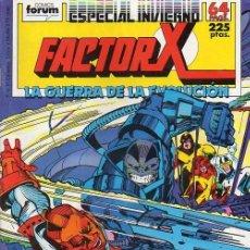 Cómics: FACTOR X ESPECIAL INVIERNO 1988 (LA GUERRA DE LA EVOLUCIÓN) FORUM. Lote 221459330