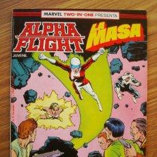 Cómics: ALPHA FLIGHT VOL. 1 Nº 39 MARVEL TWO-IN-ONE CON LA MASA (FORUM) INCLUYE POSTER. Lote 221526753