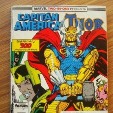 Cómics: CAPITAN AMÉRICA VOL. 1 Nº 63 AL 65 MARVEL TWO-IN-ONE CON THOR (63, 64, 65) (FORUM). Lote 221561385