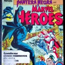 Cómics: PANTERA NEGRA - MARVEL HÉROES - RETAPADO (41 EXTRA 64 PAGS, 42, 43 Y 44) ''BUEN ESTADO'' (FOTOS). Lote 221784972