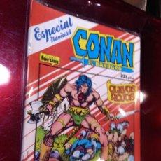Cómics: CONAN EL BÁRBARO ESPECIAL NAVIDAD 1987 CLAVOS ROJOS PRIMERA EDICIÓN FORUM. Lote 221901540