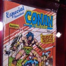 Cómics: CONAN EL BÁRBARO ESPECIAL NAVIDAD 1987 CLAVOS ROJOS PRIMERA EDICIÓN FORUM. Lote 221901588