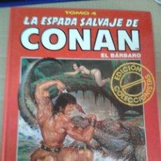 Cómics: LA ESPADA SALVAJE DE CONAN EL BARBARO. EDICION COLECCIONISTAS TOMO 4. Lote 221987228