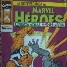 Cómics: LA INCREIBLE MASA EN MARVEL HEROES 67 - CUENTA ATRÁS 3 LA COSA. Lote 221994283