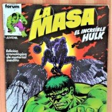Cómics: LA MASA - EL INCREIBLE HULK - COMICS FORUM - Nº 6. Lote 222064050