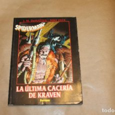 Cómics: LA ÚLTIMA CACERÍA DE KRAVEN, NOVELA GRÁFICA DE SPIDERMAN, EDITORIAL FORUM. Lote 222133676
