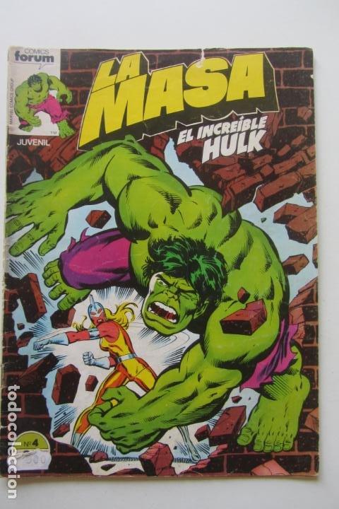 LA MASA EL INCREÍBLE HULK VOL 1 Nº 4 FORUM MUCHOS EN VENTA, MIRA TUS FALTAS ARX1 (Tebeos y Comics - Forum - Hulk)