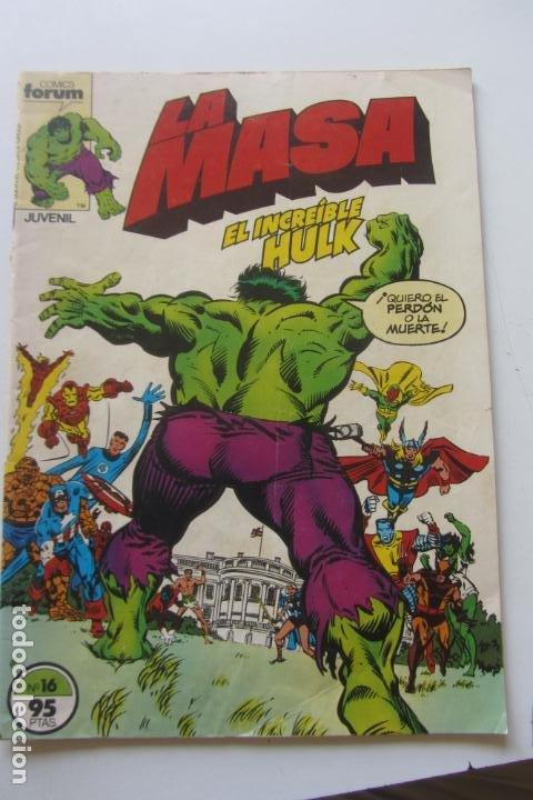 LA MASA EL INCREÍBLE HULK VOL 1 Nº 16 FORUM MUCHOS EN VENTA, MIRA TUS FALTAS ARX1 (Tebeos y Comics - Forum - Hulk)