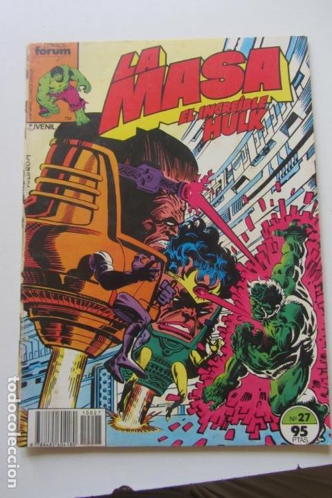 LA MASA EL INCREÍBLE HULK VOL 1 Nº 27 FORUM MUCHOS EN VENTA, MIRA TUS FALTAS ARX1 (Tebeos y Comics - Forum - Hulk)