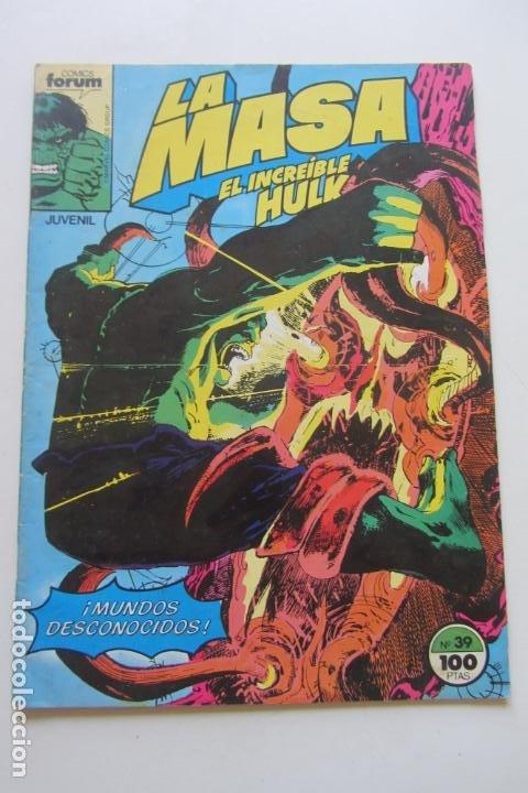 LA MASA EL INCREÍBLE HULK VOL 1 Nº 39 FORUM MUCHOS EN VENTA, MIRA TUS FALTAS ARX1 (Tebeos y Comics - Forum - Hulk)
