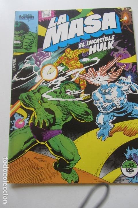 LA MASA EL INCREÍBLE HULK VOL 1 Nº 45 FORUM MUCHOS EN VENTA, MIRA TUS FALTAS ARX1 (Tebeos y Comics - Forum - Hulk)