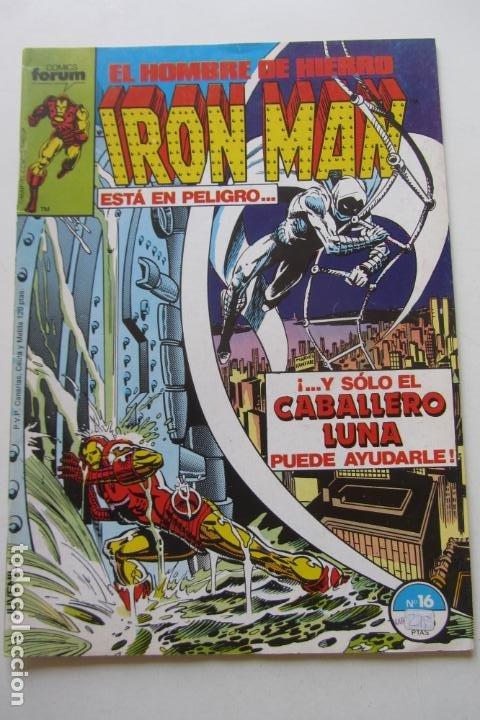 IRON MAN EL HOMBRE DE HIERRO VOL 1 Nº 16 CABALLLERO LUNA FORUM MUCHOS EN VENTA, MIRA TUS FALTAS ARX1 (Tebeos y Comics - Forum - Iron Man)