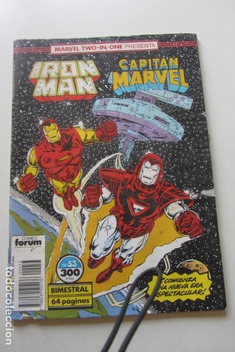 IRON MAN - CAPITÁN MARVEL Nº 53 VOL. 1 FORUM MUCHOS EN VENTA, MIRA TUS FALTAS ARX2 (Tebeos y Comics - Forum - Iron Man)