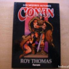 Cómics: LOS MEJORES AUTORES CONAN - ROY THOMAS . Nº 9 - TAPA DURA - EDICIONES FORUM - NUEVO. Lote 222214665