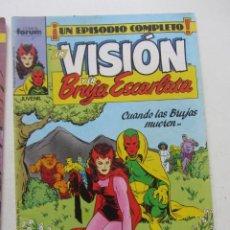 Cómics: LA VISIÓN Y LA BRUJA ESCARLATA - Nº 4 FORUM MUCHOS EN VENTA MIRA TUS FALTAS ARX4. Lote 222263182