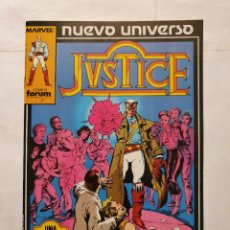 Cómics: JUSTICE VOL. # 1 (FORUM) - NUEVO UNIVERSO - 1988. Lote 222265752