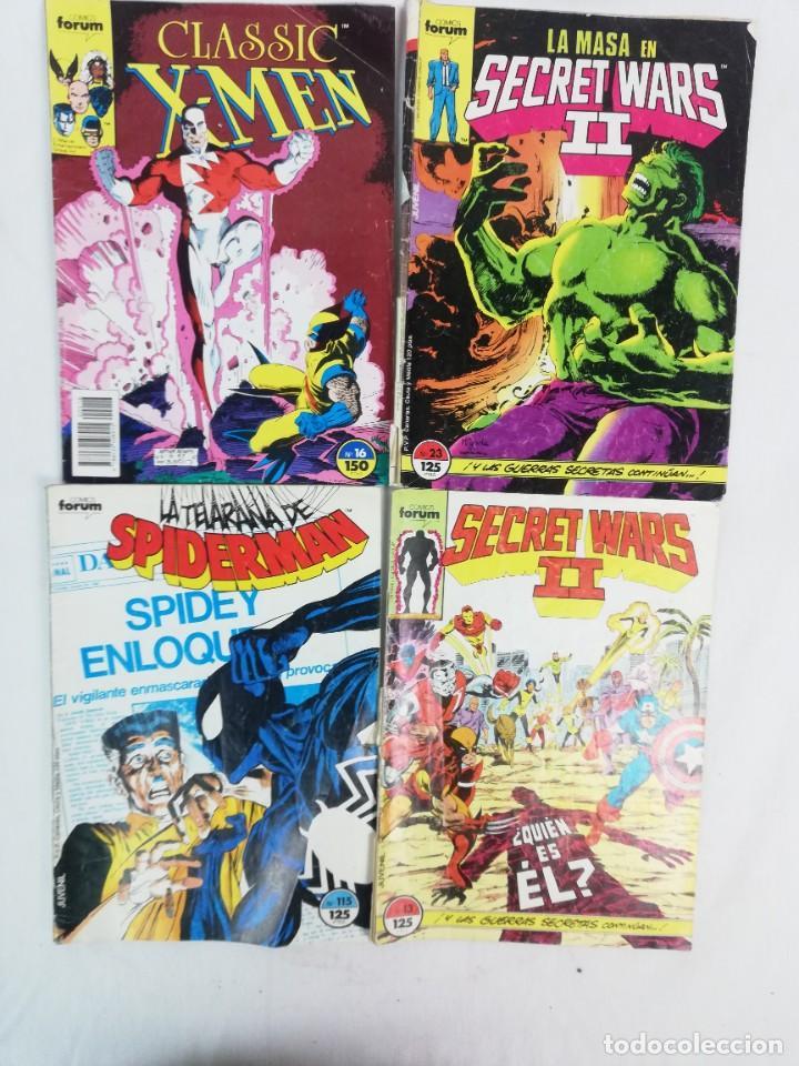 LOTE DE COMICS FORUM-SPIDERMAN- X-MEN LA MASA SECRET WARS II (Tebeos y Comics - Forum - Spiderman)
