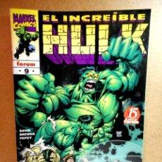Cómics: HULK VOL 3 Nº 9 : AUTODESTRUCCIÓN ( FORUM ) 1999. Lote 222404225